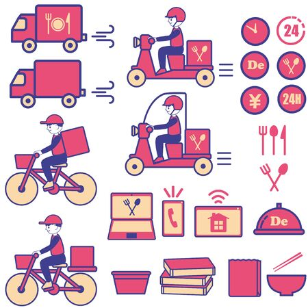 Delivery Illustration Icon Set