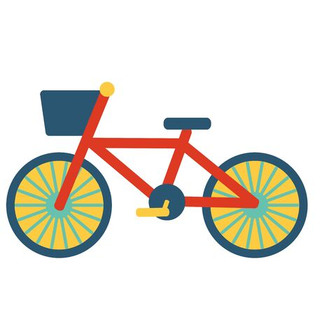 Colorful Bicycle Illustration Materials