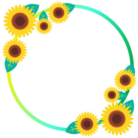 Sunflower round frame material