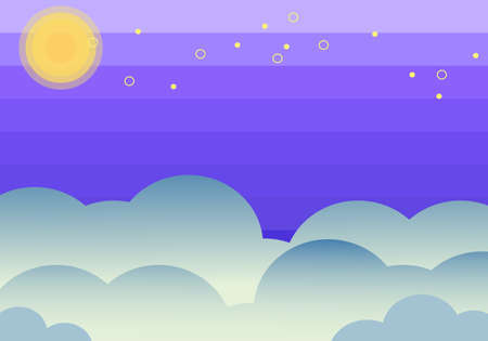 Background vector illustration material of refreshing night sky