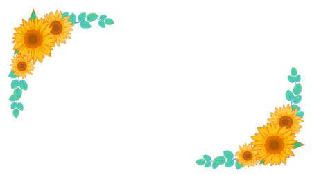 Sunflower corner frame material