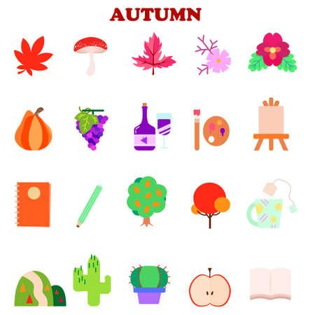Autumn Icon Illustration Material Set