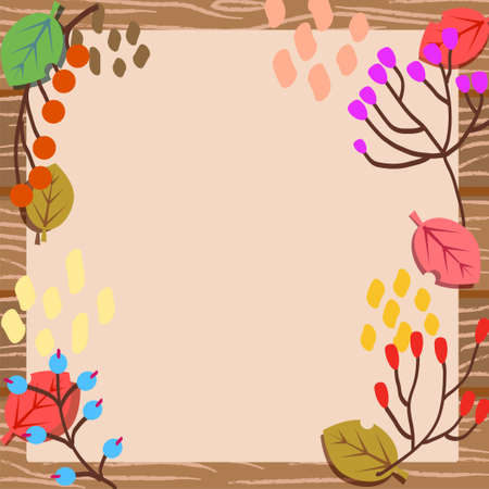 Leaf and Tree Fruit Crate Message Illustration
