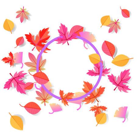 Autumn leaves frame frame illustration