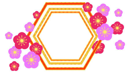 Flower Pattern Frame Illustration