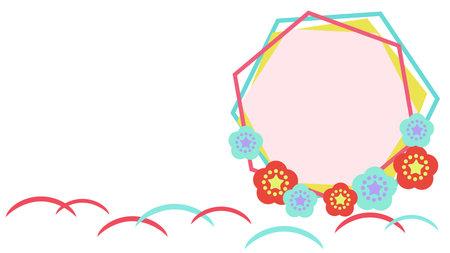 Flower Frame Illustration Japanese Material