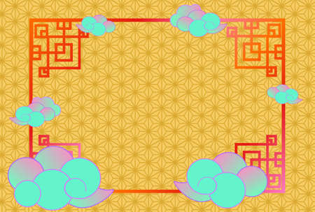 Chinese style design material