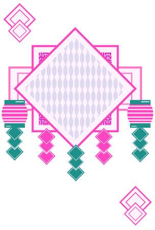 Japanese-style design illustration