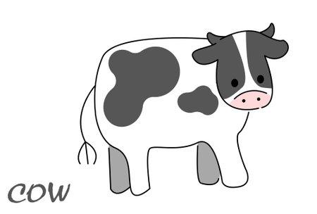 Deformed illustration of a cow