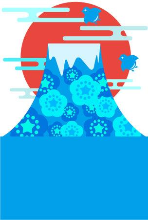 Floral mountain design illustration