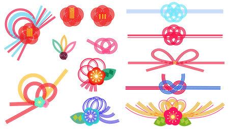 Mizuhi mover's Japanese design illustration set