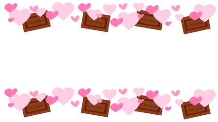 Heart Chocolate Frame Illustration