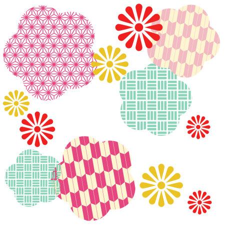 Flower Pattern Illustration  イラスト・ベクター素材