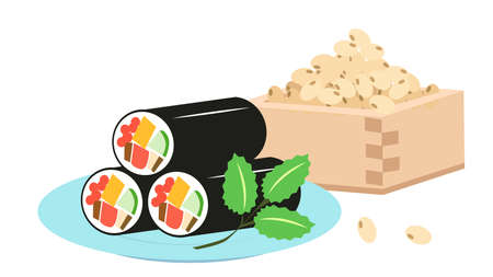 Ekomaki and Bean Setsudetsu Illustration