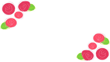 Simple illustration frame of roses