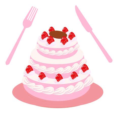 Gorgeous Cake Illustration