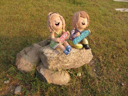 spiffy: Children statue Stock Photo