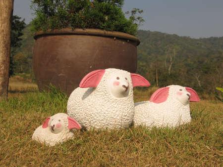 spiffy: Sheeps statue Stock Photo