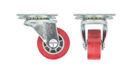 Industrial urethane on plastic core wheel Stock Photo