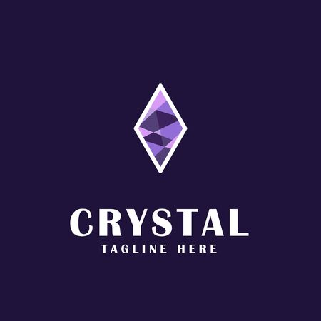 crystal icon design. 矢量图片