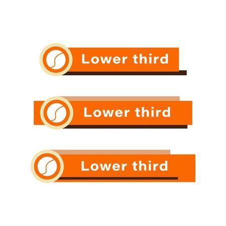 Broadcast vectors design. flat broadcast design element. simple lower third design