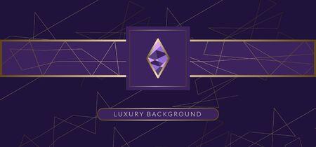 fond d'or de luxe. conception de fond noir élégant avec du cristal. Vecteurs