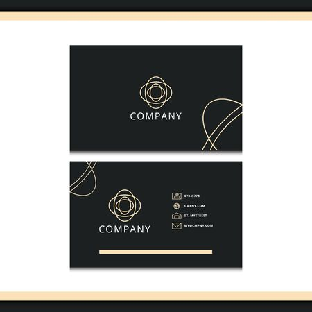 minimalist and flat business card design. minimal line stationery design. luxury business card design