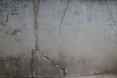 cement wall: Old cement wall and crack Stock Photo