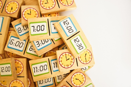 toy clock isolated in white background  Stock Photo