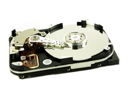 Detail of hard drive photo