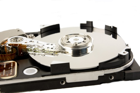 Detail of hard drive Stock Photo