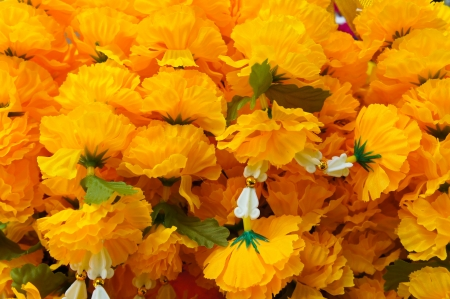 Close up Thai worship garland Stock Photo