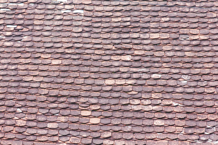 attern of tiles on the roof Stock Photo