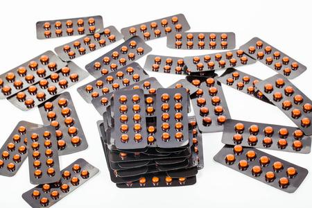 packs of pills: pile of pills in blister packs