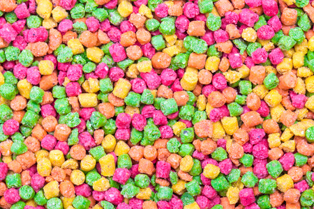 Candy sprinkles, in full-frame background Stock Photo