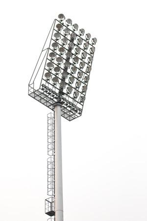 halogen lighting: Stadium lights, isolated on white background