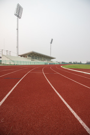 way of living: Running track in stadium.