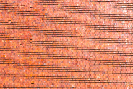 roof tiles background texture in regular rows Stock Photo