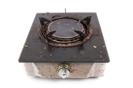 gas stove: old gas stove