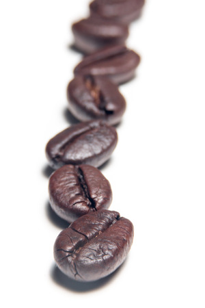 Coffee bean isolated on white background Stock Photo