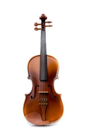 orquesta clasica: Cierre de violín sobre fondo blanco