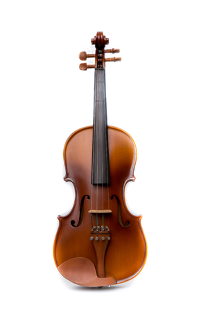 music concert: Close up of  violin on white background