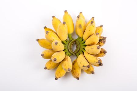 Fresh bananas on white background