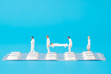 miniature people healthy team and medical drug,medical concept
