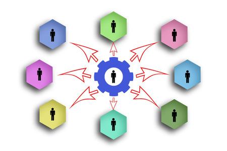 connection chart template,teamwork concept 免版税图像