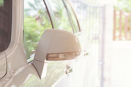 rear-view mirror of automobile 版權商用圖片