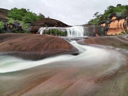 Long exposure beautiful waterfall