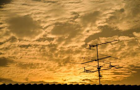 UHF and VHF TV and radio antennas photo