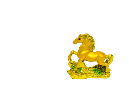 Golden horse on a white background  Stock Photo - 17902784