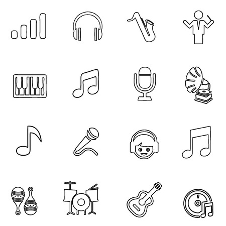 music icon line Vector